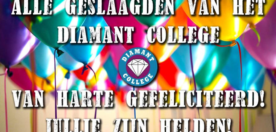 Geslaagd op het Diamant College
